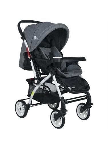 4 Baby 4 Baby Lüx Alüminyum Mama Tablalı Çift Yönlü Bebek Arabası Antrasit